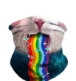 IHEARTRAVES Rave Bandana/Mask - Cat Vomiting Rainbows