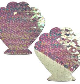 Mermaid Color Changing Sequin Seashell Nipple Pasties