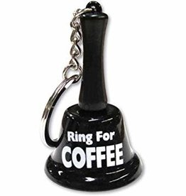 Ring For Coffee Keychain Bell