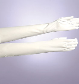 Long White Nylon Gloves