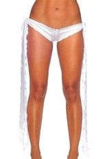 IHEARTRAVES White Ribbon Tie Shorts