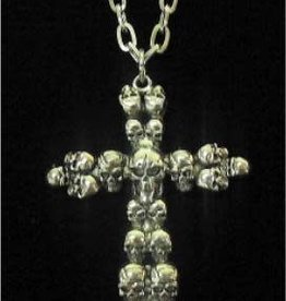 FUN WORLD Skull Cross Necklace