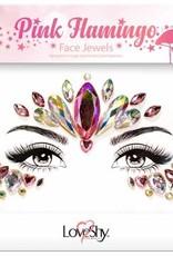 LoveShy Face Jewels - Pink Flamingo