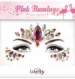 LoveShy Face Jewels - Pink Flamingo