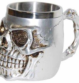Skull Mug - Silver