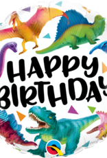 "Qualatex 18"" Birthday Colorful Dinosaurs"