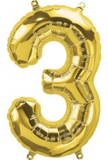 """16"""" Air-Fill Number Three - Gold"""