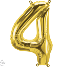 """16"""" Air-Fill Number Four - Gold"""