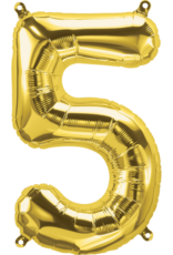 """16"""" Air-Fill Number Five - Gold"""