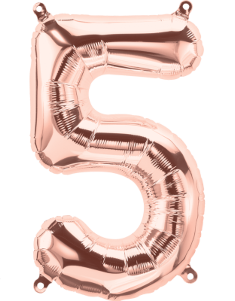 """16"""" Air-Fill Number Five - Rose Gold"""