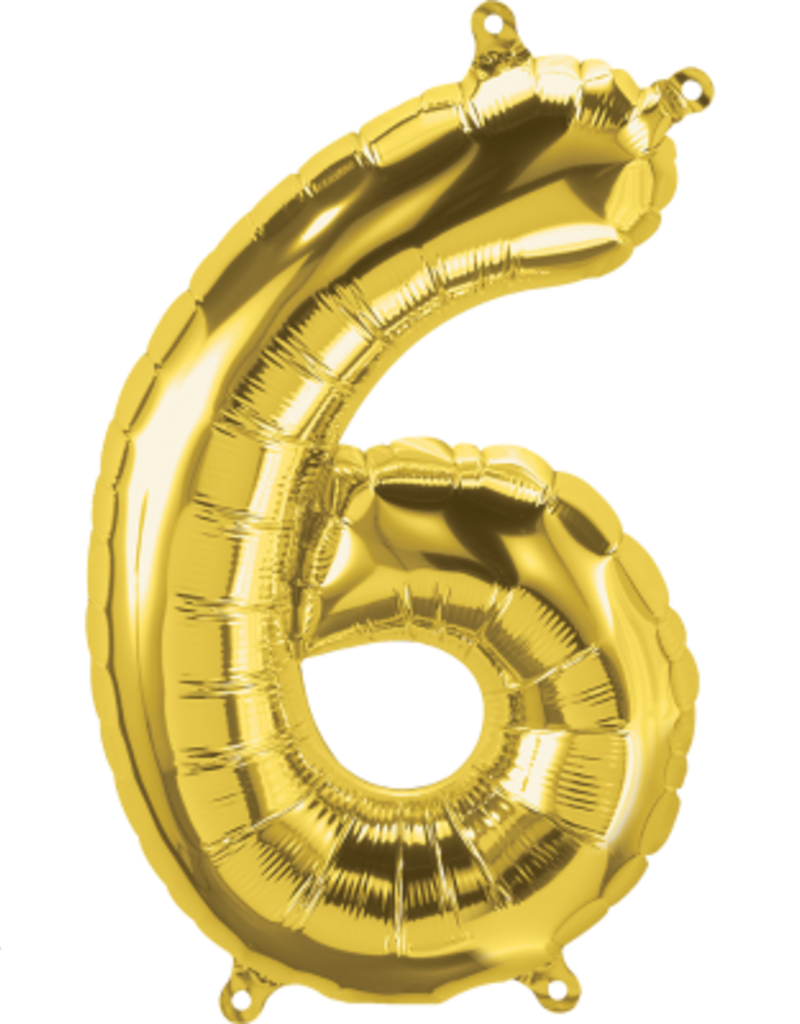 "16"" Air-Fill Number Six - Gold"