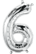 """16"""" Air-Fill Number Six - Silver"""