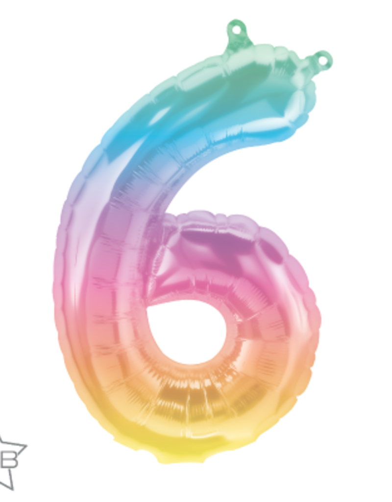 "16"" Air-Fill Number Six - Jelli Ombré"