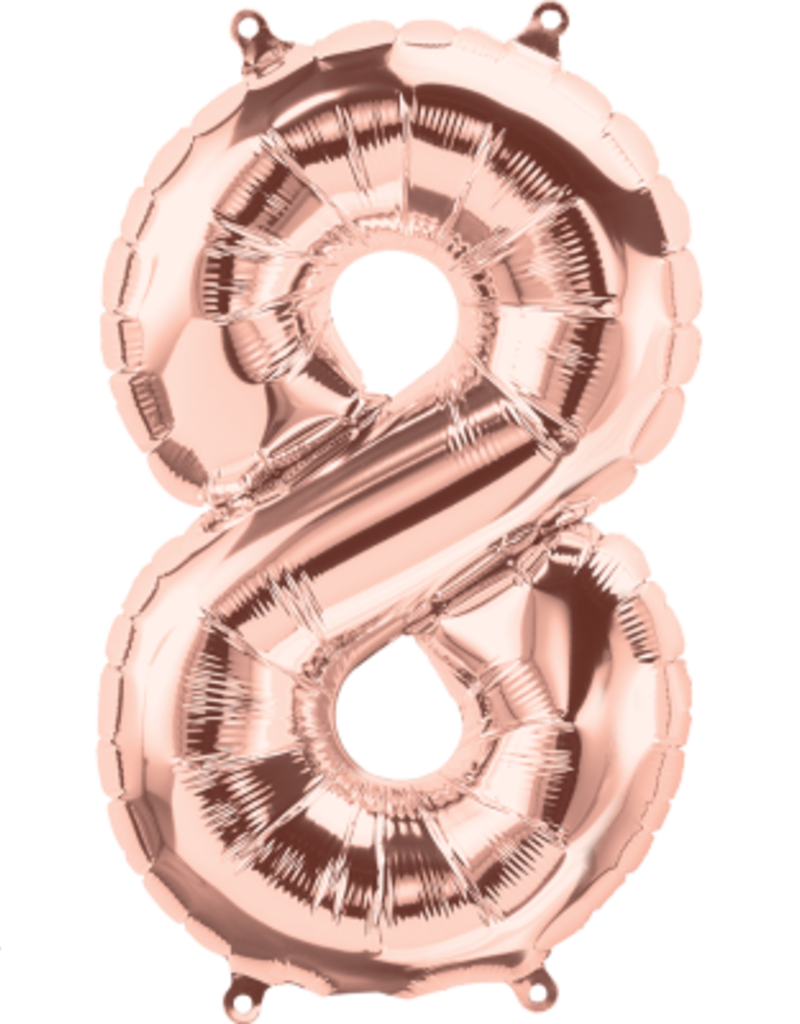 """16"""" Air-Fill Number Eight - Rose Gold"""