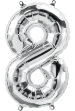 """16"""" Air-Fill Number Eight - Silver"""