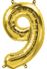 "16"" Air-Fill Number Nine - Gold"