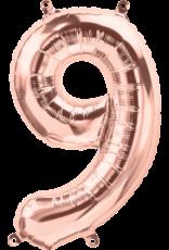 "16"" Air-Fill Number Nine - Rose Gold"
