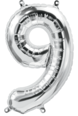 "16"" Air-Fill Number Nine - Silver"