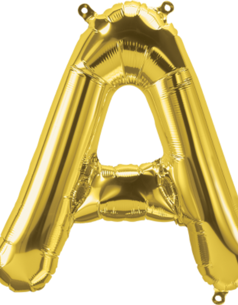 """16"""" Air-Fill Letter A - Gold"""