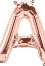 """16"""" Air-Fill Letter A - Rose Gold"""