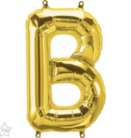 "16"" Air-Fill Letter B - Gold"