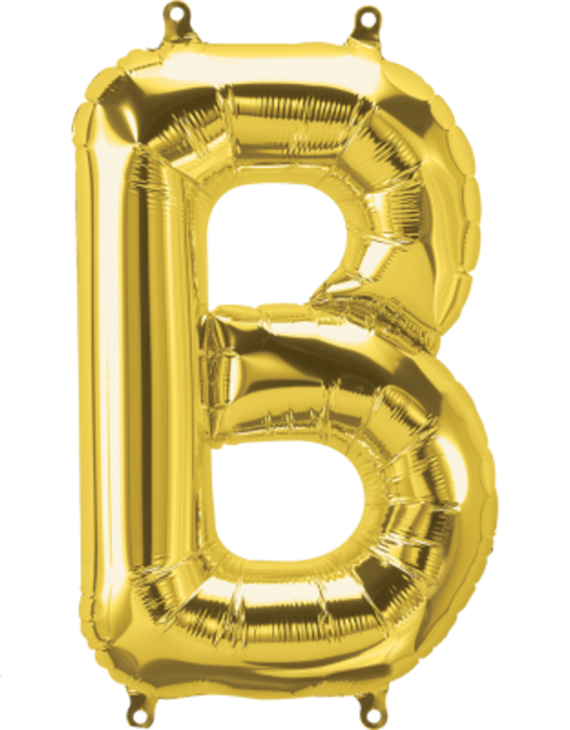 """16"""" Air-Fill Letter B - Gold"""