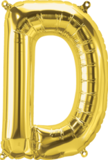 "16"" Air-Fill Letter D - Gold"