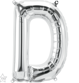 "16"" Air-Fill Letter D - Silver"