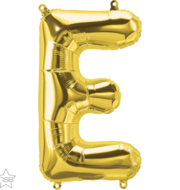 "16"" Air-Fill Letter E - Gold"