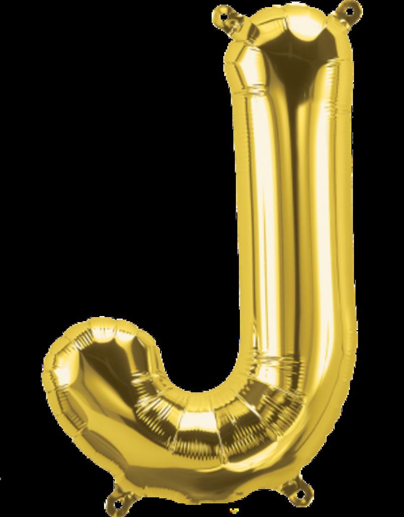 "16"" Air-Fill Letter J - Gold"