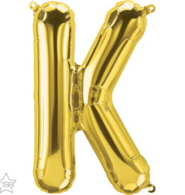 "16"" Air-Fill Letter K - Gold"