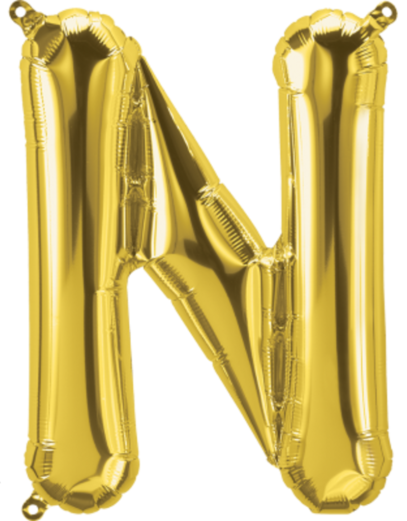 "16"" Air-Fill Letter N - Gold"