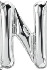 """16"""" Air-Fill Letter N - Silver"""