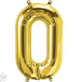 """16"""" Air-Fill Letter O - Gold"""