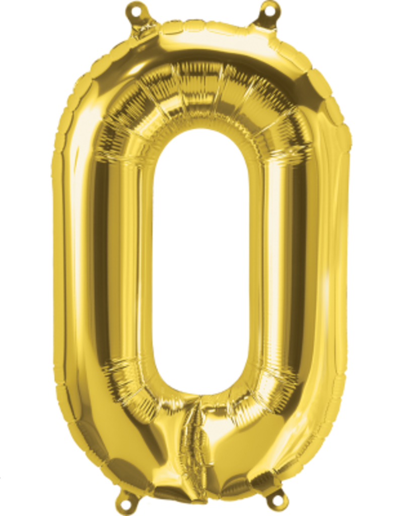 "16"" Air-Fill Letter O - Gold"