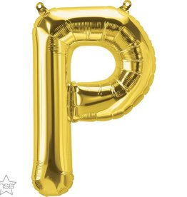 """16"""" Air-Fill Letter P - Gold"""