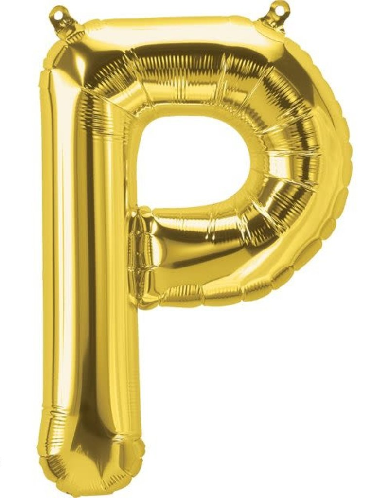 "16"" Air-Fill Letter P - Gold"