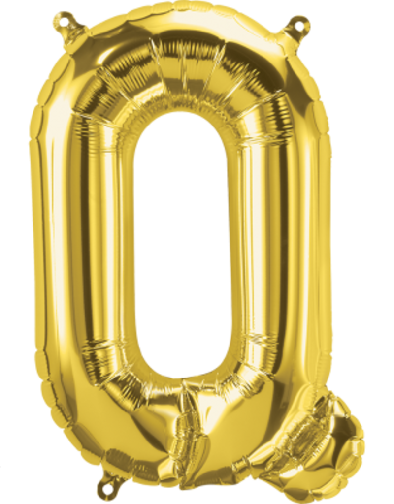 "16"" Air-Fill Letter Q - Gold"