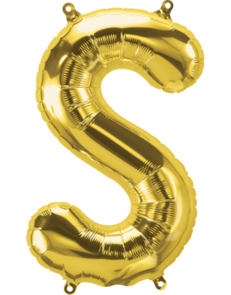 "16"" Air-Fill Letter S - Gold"