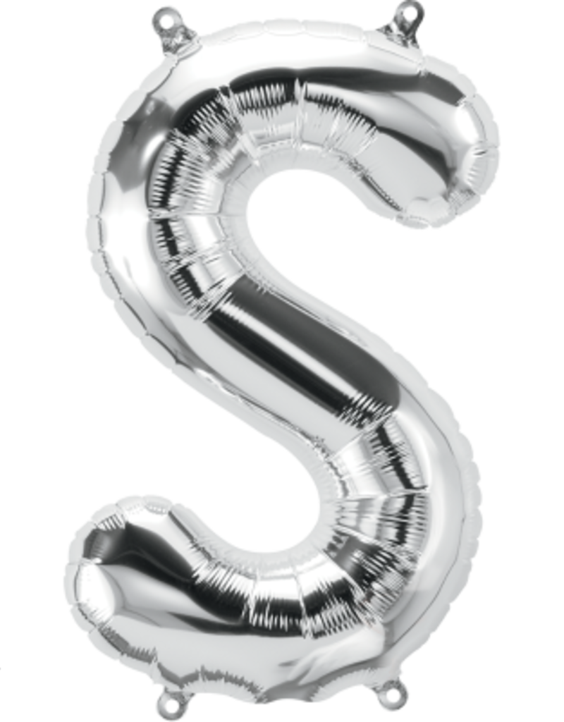 "16"" Air-Fill Letter S - Silver"