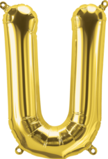 "16"" Air-Fill Letter U - Gold"