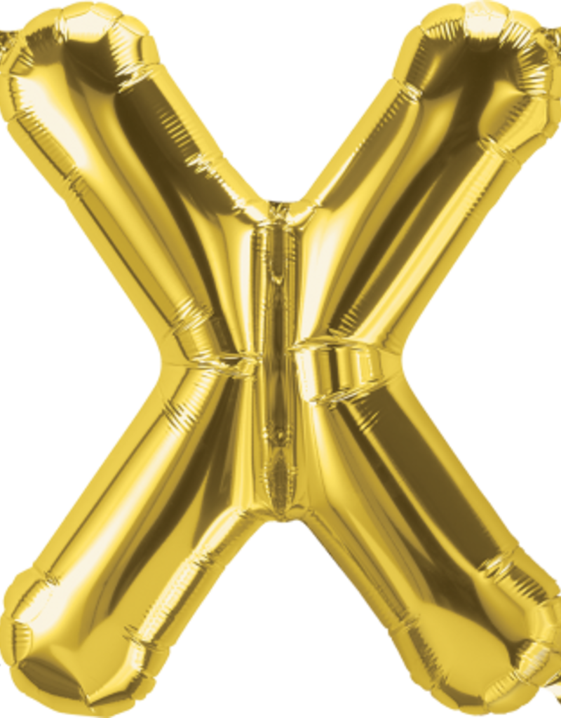 "16"" Air-Fill Letter X - Gold"