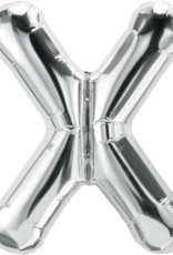 """16"""" Air-Fill Letter X - Silver"""