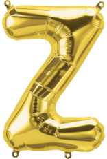 "16"" Air-Fill Letter Z - Gold"