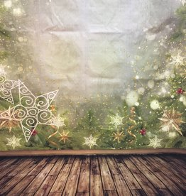 7'x5' Christmas Stars Backdrop