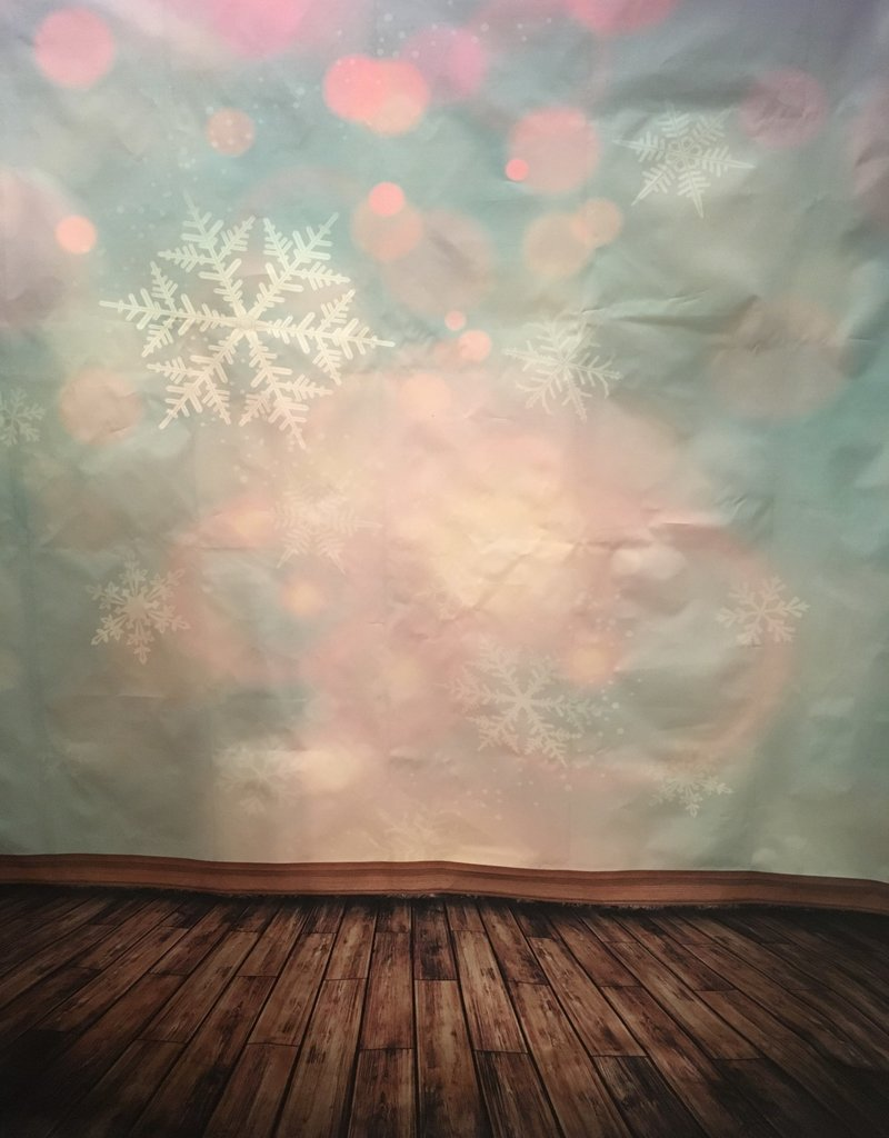 7'x5' Pastel Snowflakes Backdrop