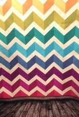 7'x5' Rainbow Chevron Backdrop
