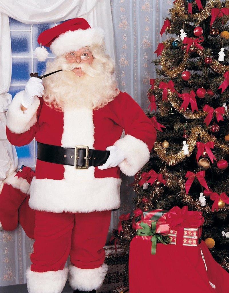 Rubies Costumes Imperial Plush Adult Santa Suit with Faux Fur Trim - Standard