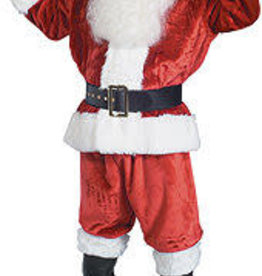Rubies Costumes Crimson Imperial Plush Adult Santa Suit with Faux Fur Trim - XL