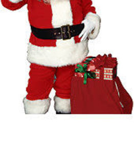 Rubies Costumes Imperial Plush Adult Santa Suit with Faux Fur Trim  - XL